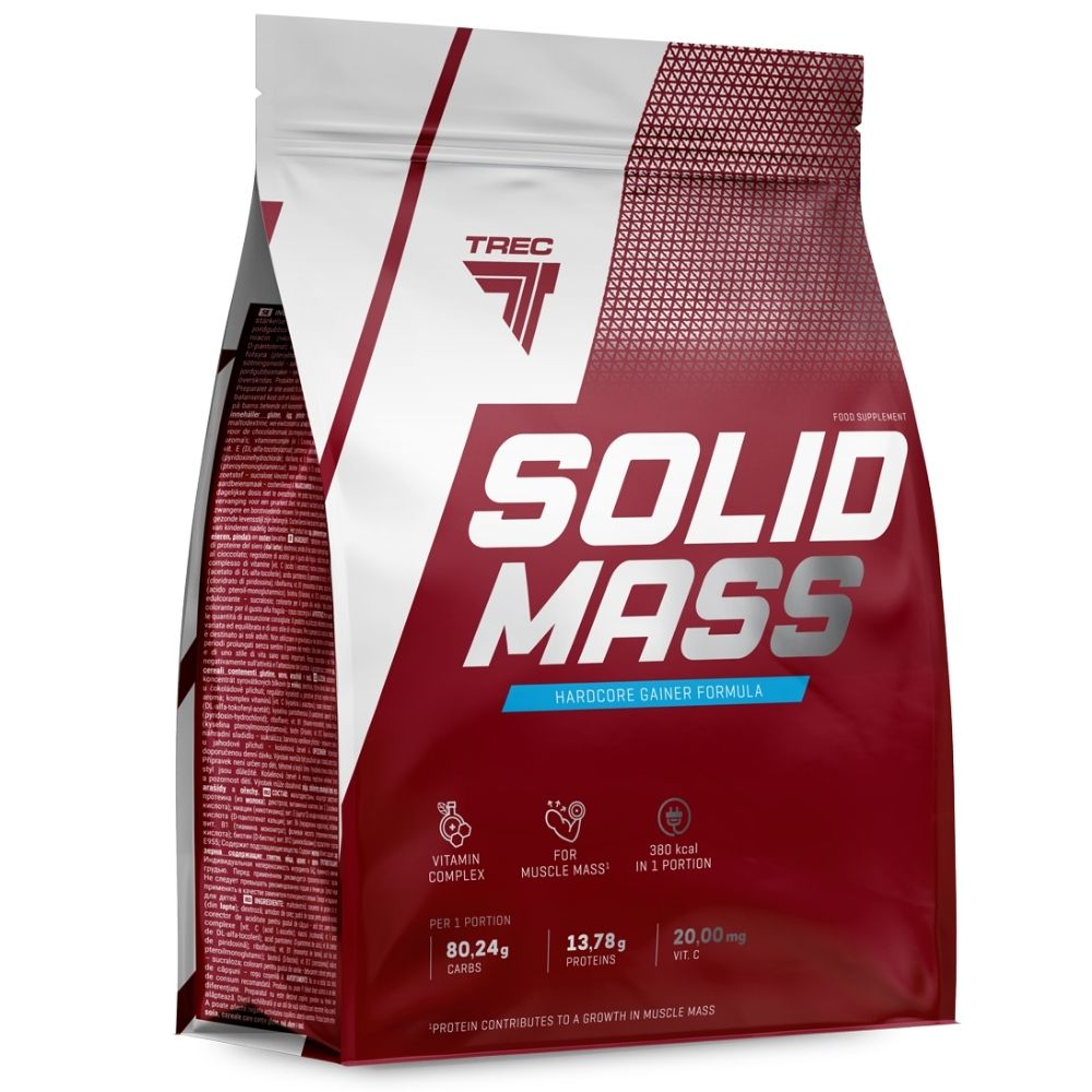 Гейнер Trec Nutrition Solid Mass 5800 g Клубника
